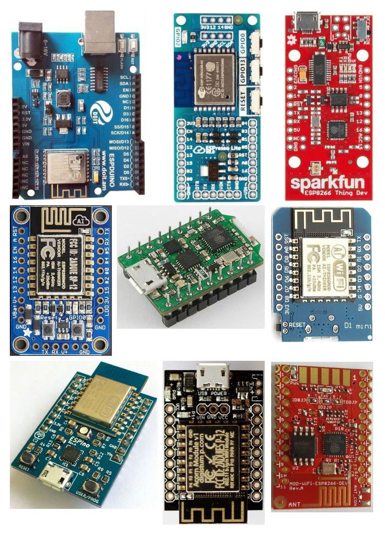 ESP8266 modules supported by Arduino IDE